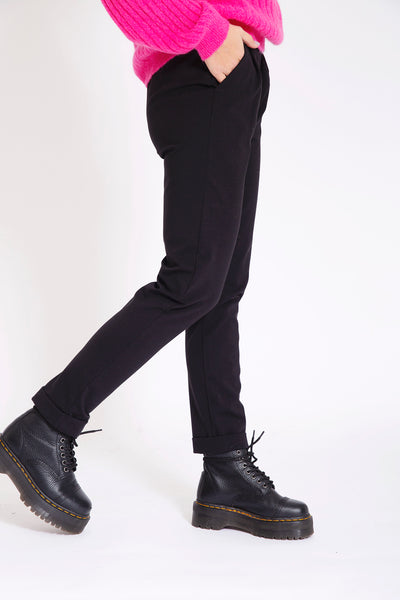 Joggingbroek met stretch - Zwart