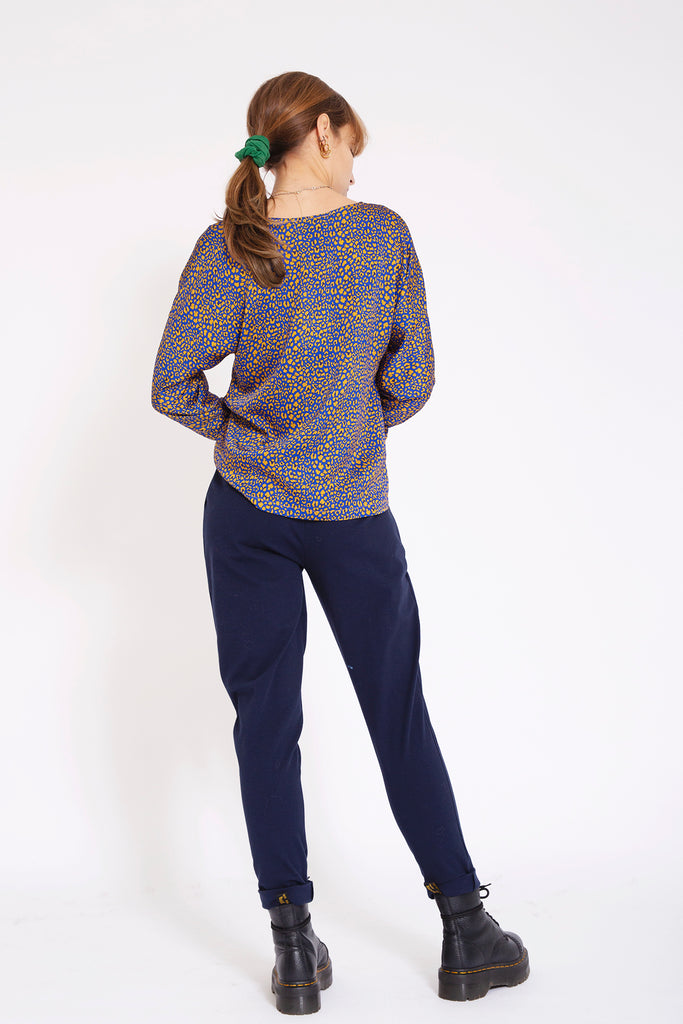 Joggingbroek met stretch - Donkerblauw