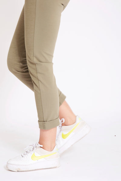 Joggingbroek met stretch - Kaki