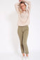 Sweater met v-back - Beige
