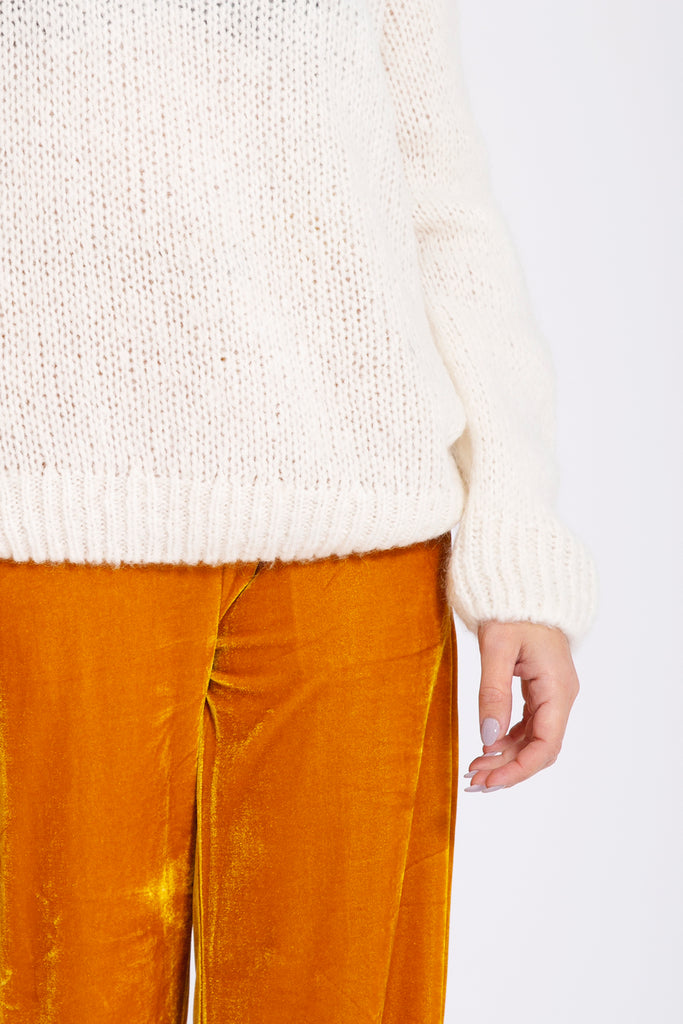 Sweater met v-back - Wit