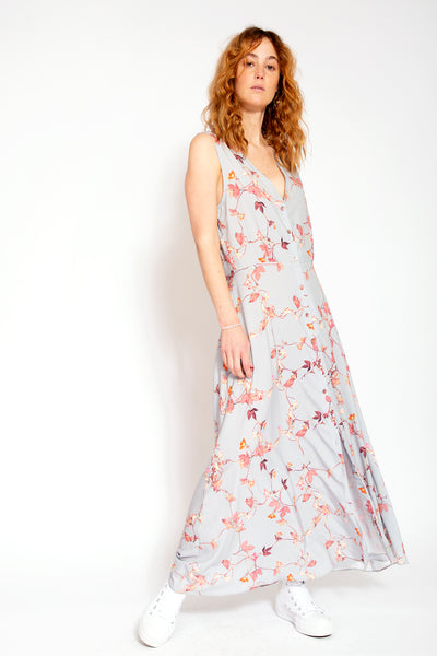 Long summer dress - Fantasy print Cloud