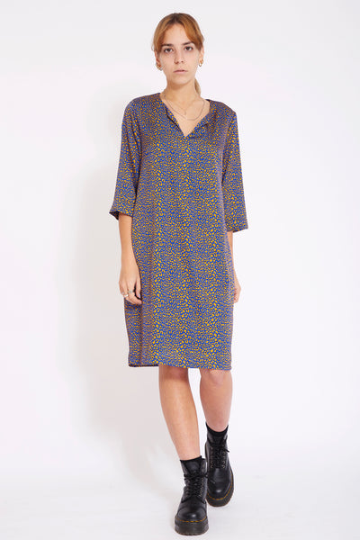 Tunic dress with slits up side - fantasy print Panther