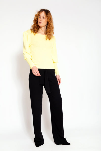 Top with long sleevy-Yellow