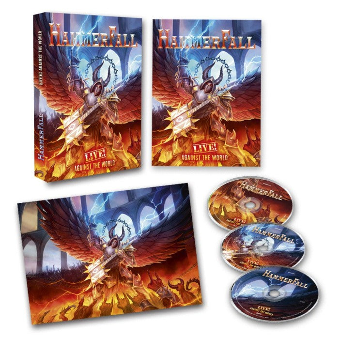 Hammerfall - Live! Against The World (Ltd. Ed. Blu-Ray/2CD) (RA/B/C) - Blu-Ray - Music