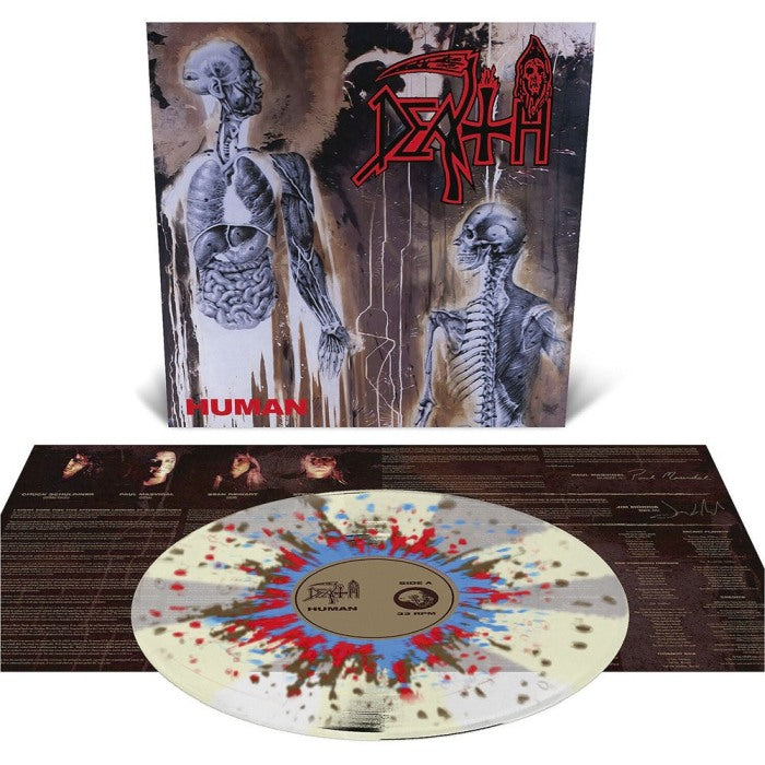 Death - Human (Ltd. Ed. Clear w. Bone White Pinwheels + Splatter Vinyl) - Vinyl - New