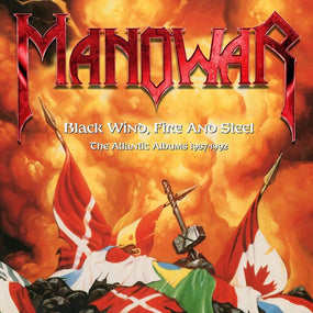 Manowar - Black Wind, Fire And Steel - The Atlantic Albums 1987-1992 (Fighting The World/Kings Of Metal/The Triumph Of Steel) (3CD Box Set) - CD - New