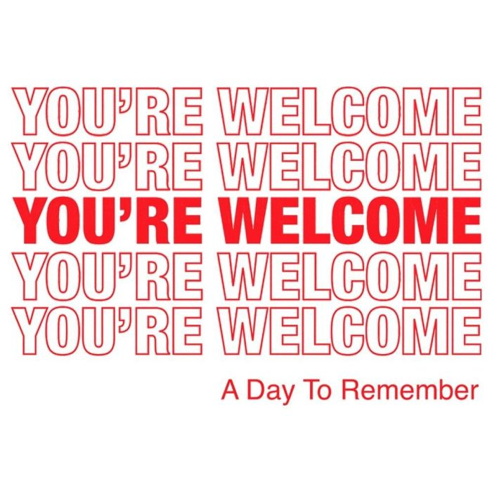 Day To Remember - You're Welcome - CD - New