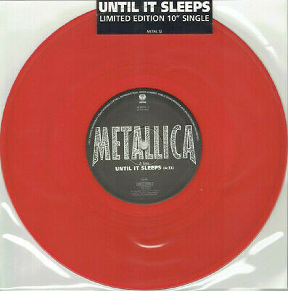 Metallica - Until It Sleeps (10 inch Red Vinyl UK) - Vinyl - New