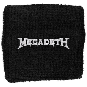 Megadeth - Sweat Towelling Embroided Wristband (Logo)