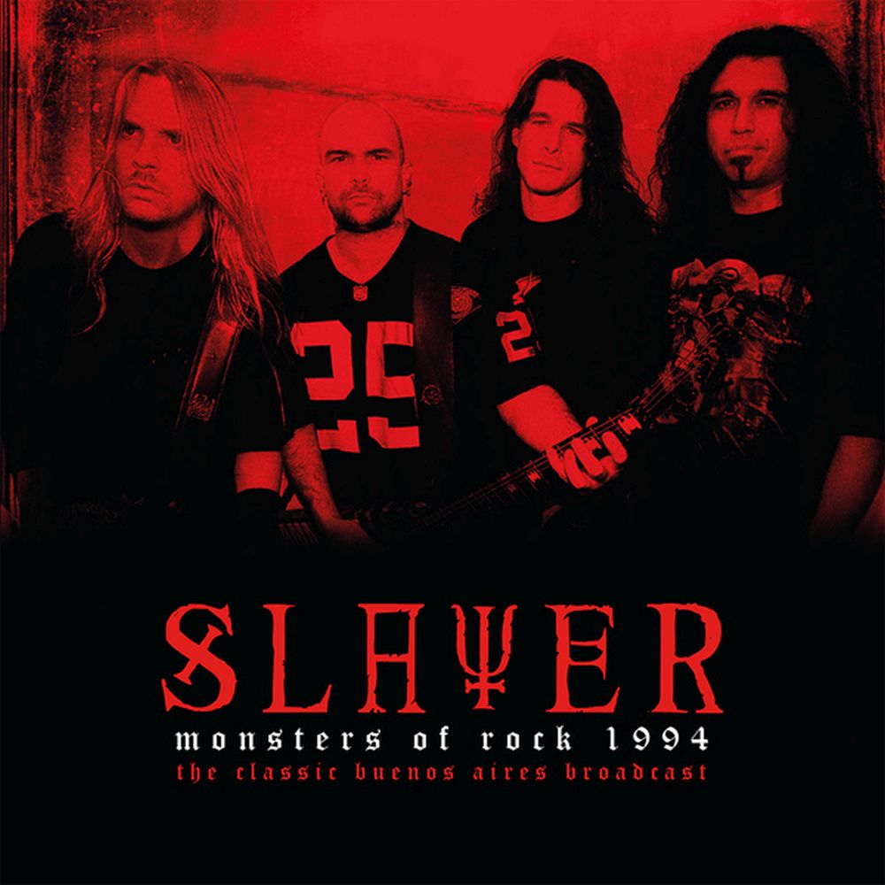 Slayer - Monsters Of Rock 1994: The Classic Buenos Aires Broadcast (Ltd. Ed. 2LP Clear Vinyl gatefold) - Vinyl - New