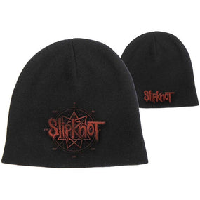 Slipknot - Knit Beanie - Embroidered - 9 Pointed Star & Logo