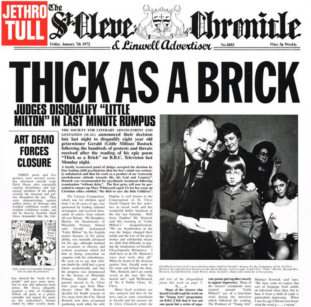 Jethro Tull - Thick As A Brick (Steven Wilson 2012 Stereo Remix - 180g w. download code) - Vinyl - New