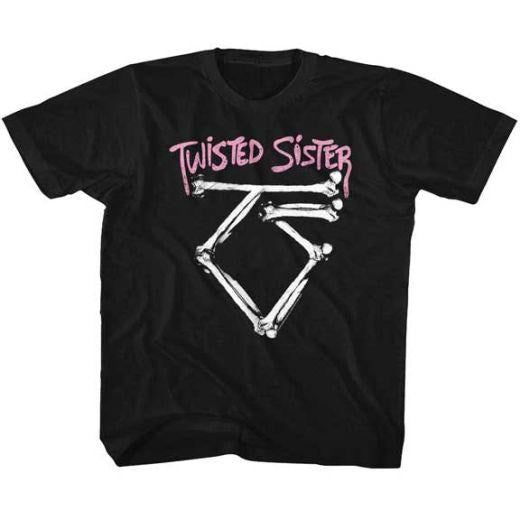 Twisted Sister - Bone Logo Toddler and Youth Black Shirt