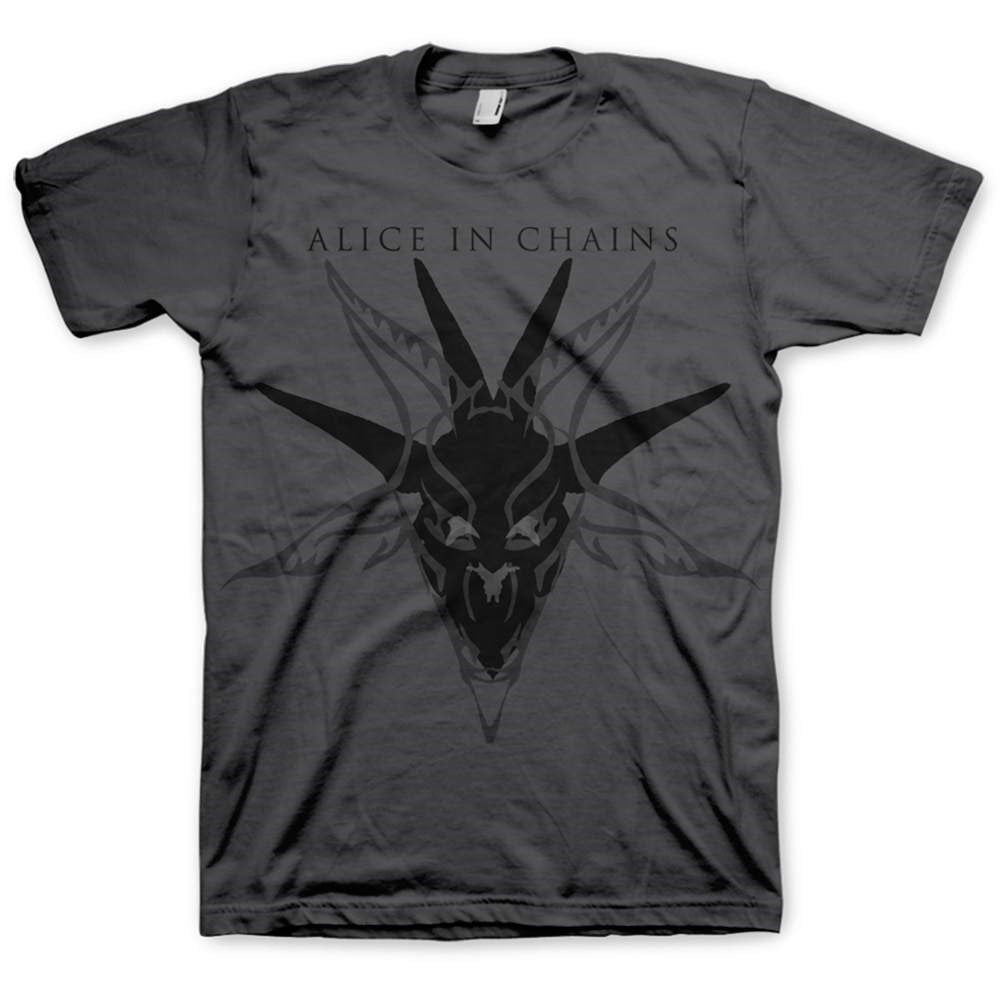 Alice In Chains - Black Skull Charcoal Shirt