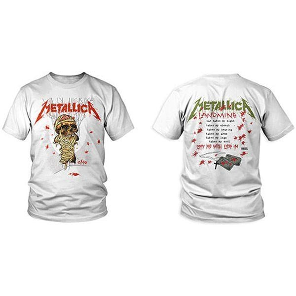 Metallica - One Landmine White Shirt