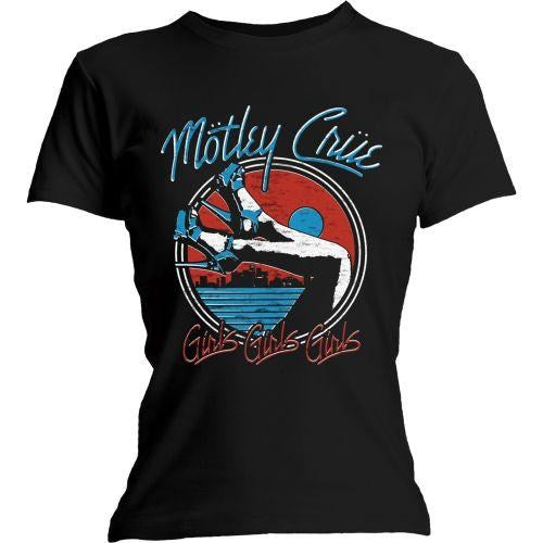 Motley Crue - Heels Womens Black Shirt