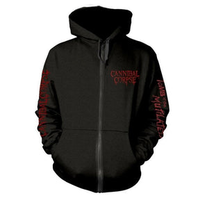 Cannibal Corpse - Tomb Of The Mutilated Black Zip Hoodie