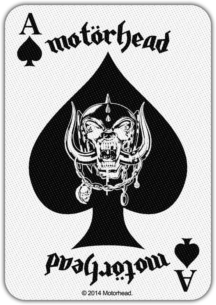 Motorhead - Ace Of Spades Card Sew-On Patch