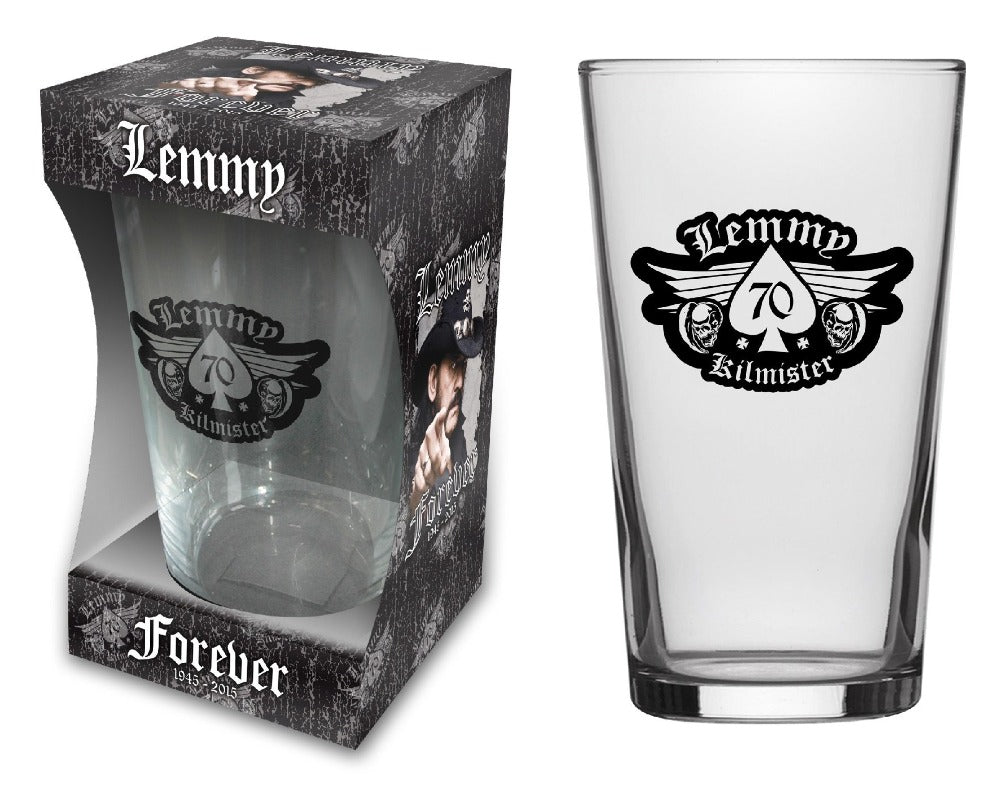 Lemmy Motorhead - Beer Glass - Pint - Forever