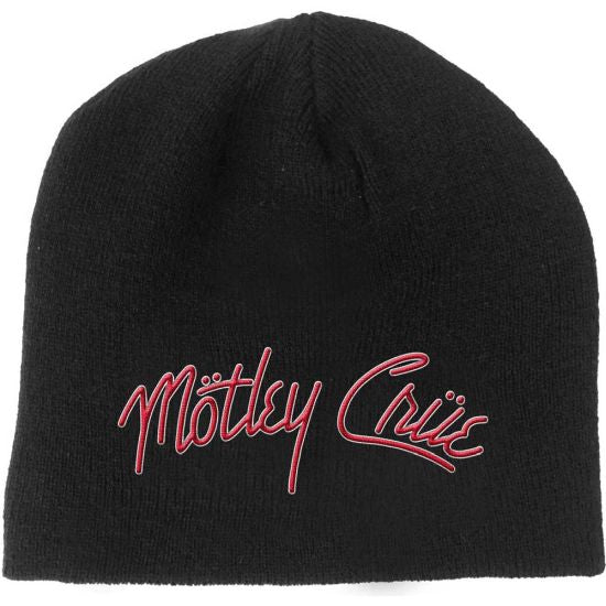 Motley Crue - Knit Beanie - Embroidered - Girls Girls Girls Logo
