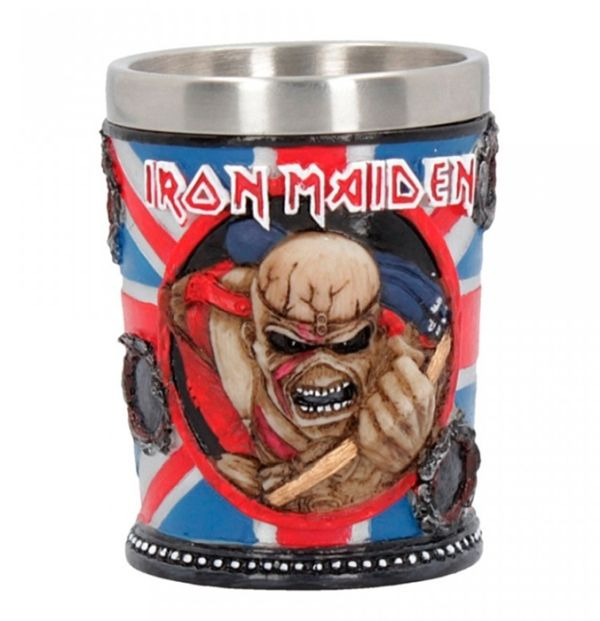 Iron Maiden - Shot Glass (Trooper - high quality resin cast w. removable stainless steel insert)
