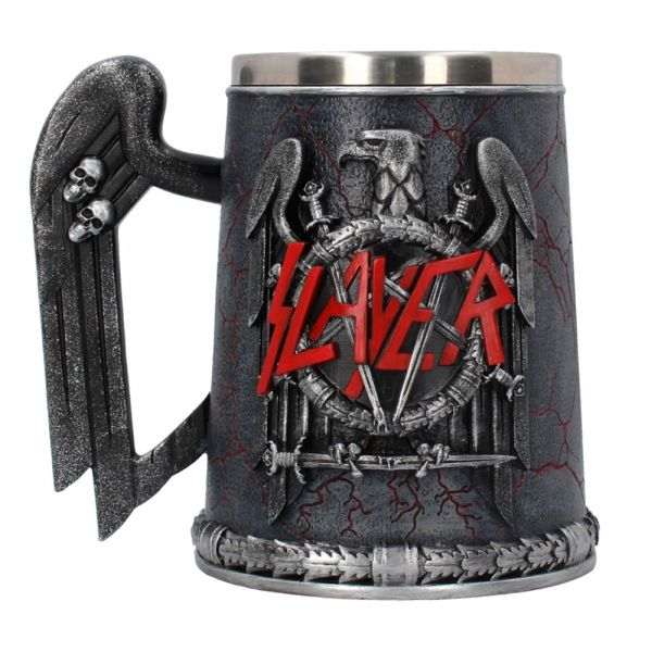 Slayer - Tankard Eagle Logo - Pint (560ml) 14.5cm high quality resin cast w. removable stainless steel insert
