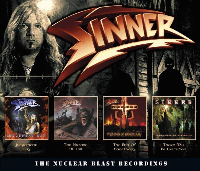 Sinner - Nuclear Blast Recordings, The (Judgement Day/The Nature Of Evil/The End Of Sanctuary/There Will Be Execution) (4CD) - CD - New