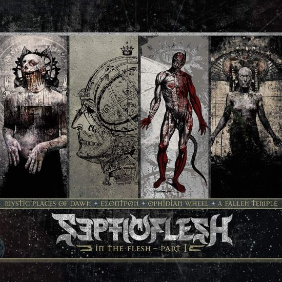 Septic Flesh - In The Flesh - Part I (Mystic Places Of Dawn/Esoptron/Ophidian Wheel/A Fallen Temple) (4CD) - CD - New