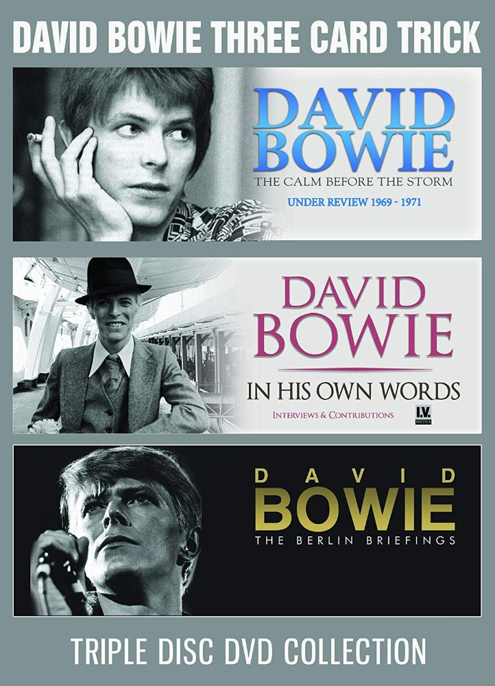 Bowie, David - Three Card Trick (The Calm Before The Storm - Under Review 1969-1971/In His Own Words - Interviews And Contributions/The Berlin Briefings) (3DVD) (R0) - DVD - Music