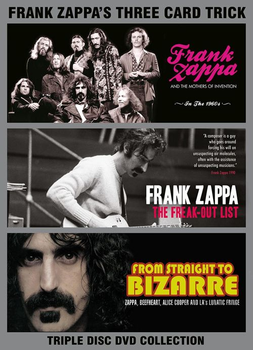 Zappa, Frank - Three Card Trick (In The 1960s/The Freak-Out List/From Straight To Bizarre) (3DVD) (R0) - DVD - Music