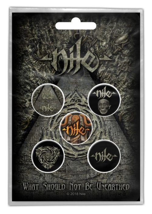 Nile - 5 x 2.5cm Button Set - What Should Not Be Unearthed