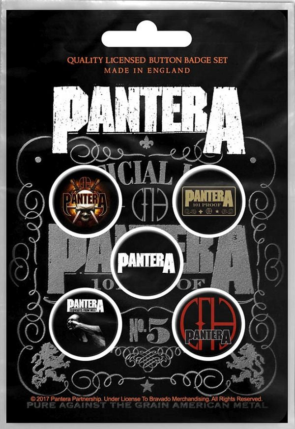 Pantera - 5 x 2.5cm Button Set - 101 Proof