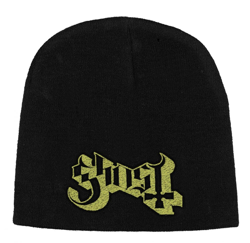 Ghost - Knit Beanie - Embroidered - Gold Logo