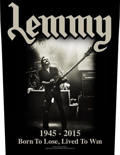 Lemmy Motorhead - Lived To Win - Sew-On Back Patch