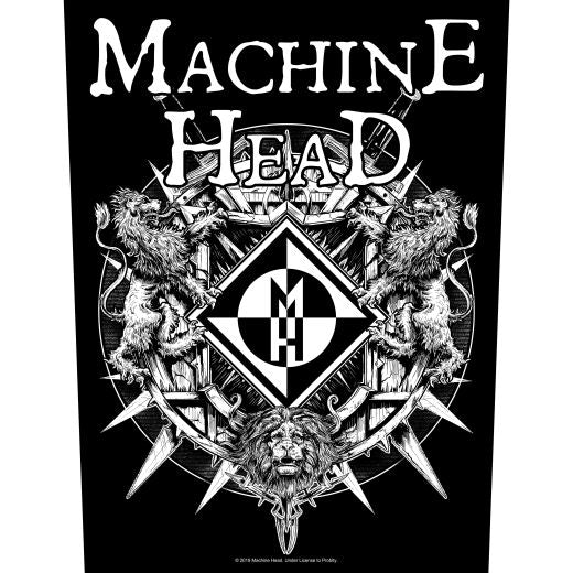 Machine Head - Crest 2 - Sew-On Back Patch