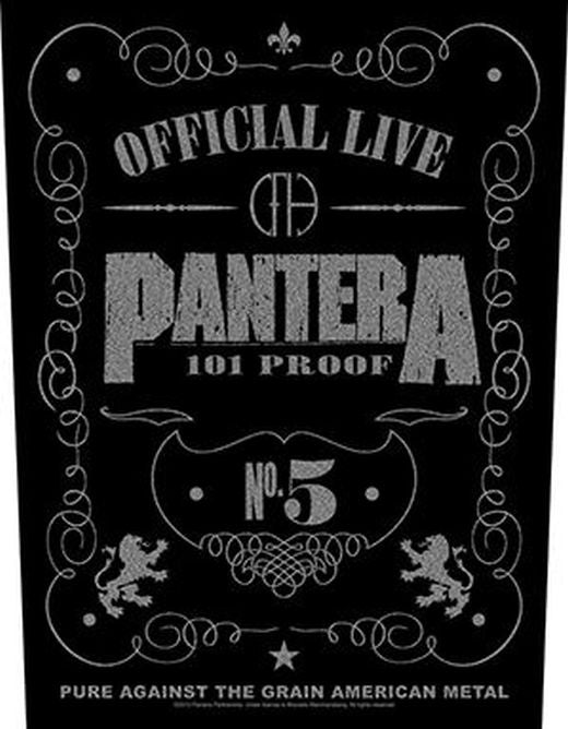 Pantera - 101 Proof - Sew-On Back Patch