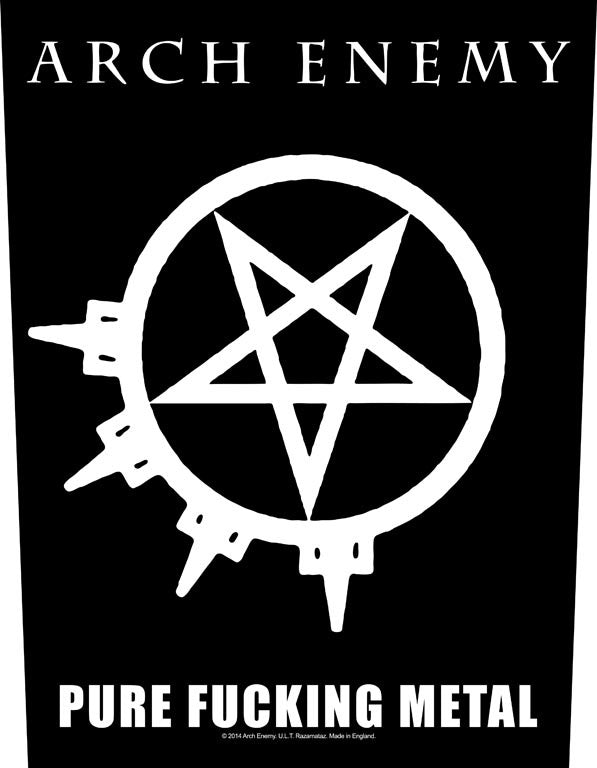 Arch Enemy - Pure Fucking Metal - Sew-On Back Patch