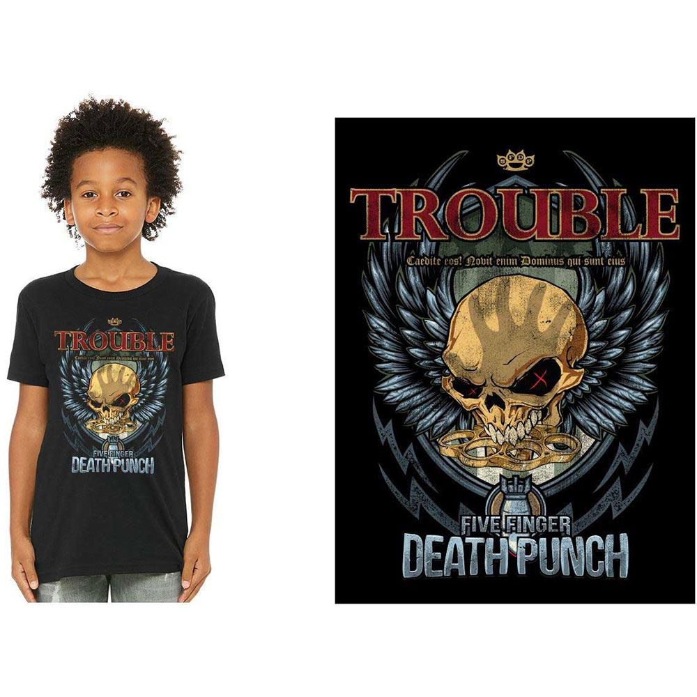 Five Finger Death Punch - Trouble Toddler and Youth Black Shirt