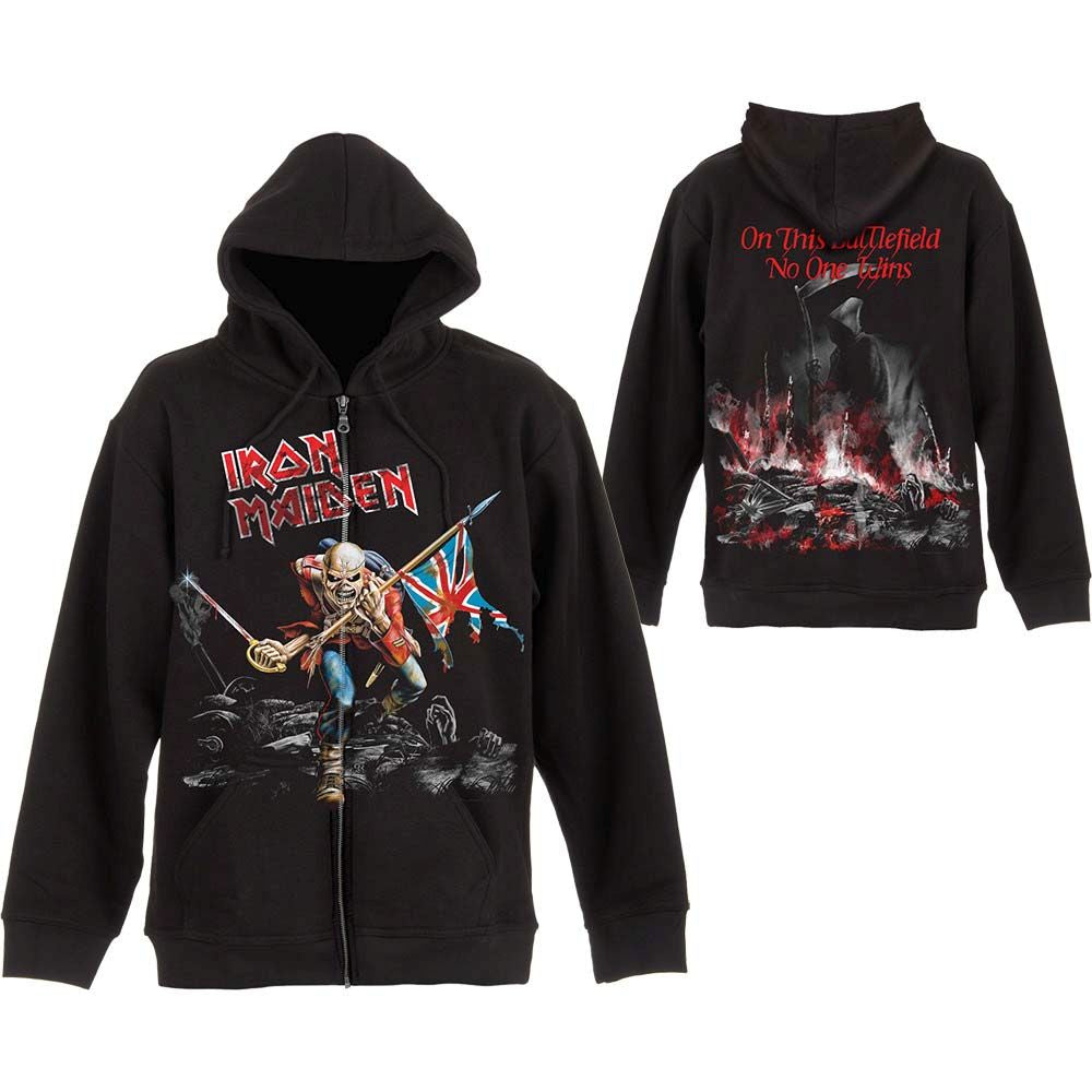 Iron Maiden - Zip Hoodie (Skuffed Trooper)