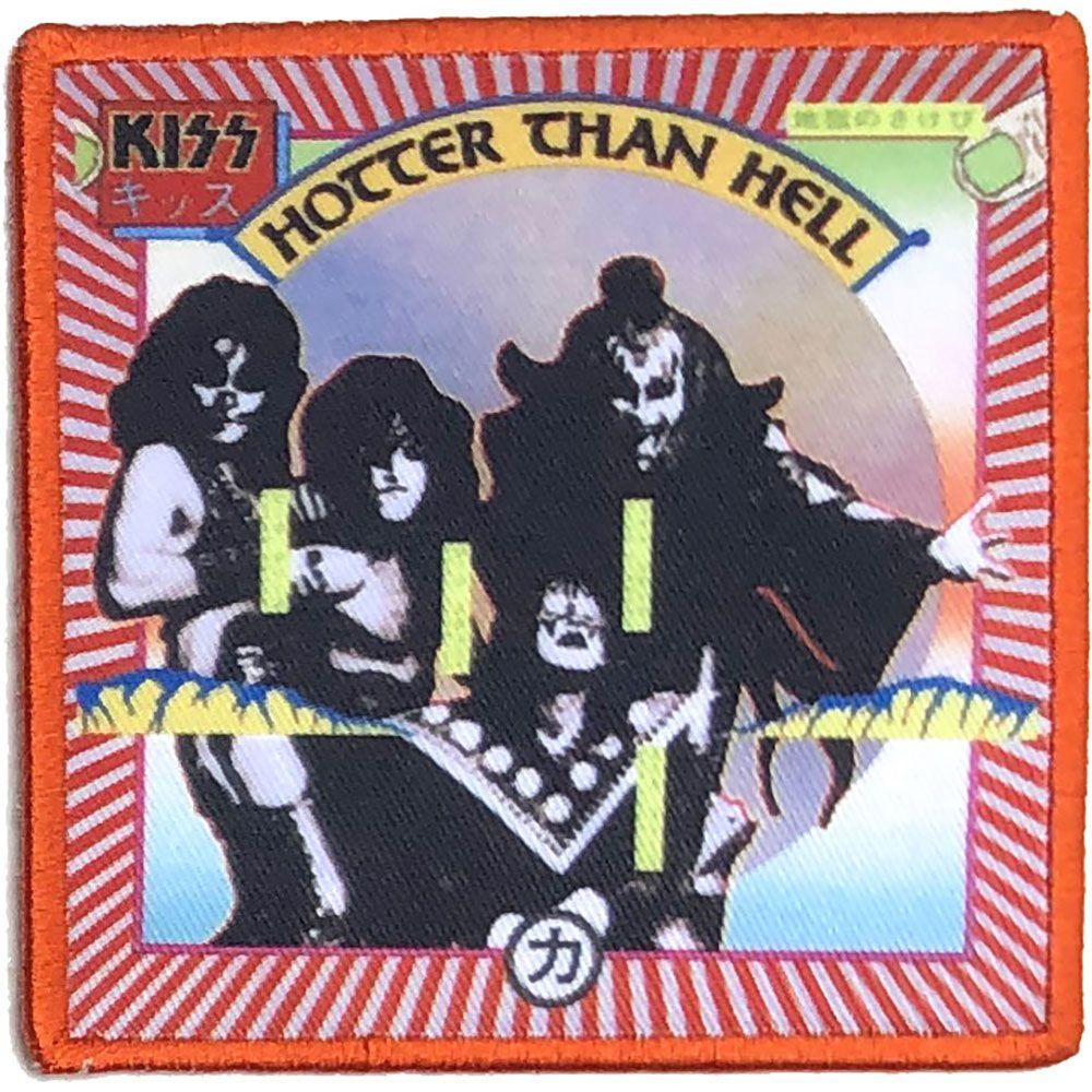 Kiss - Hotter Than Hell Sew-On Patch