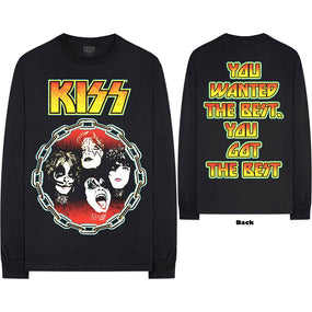 Kiss - You Wanted The Best Black Long Sleeve Shirt