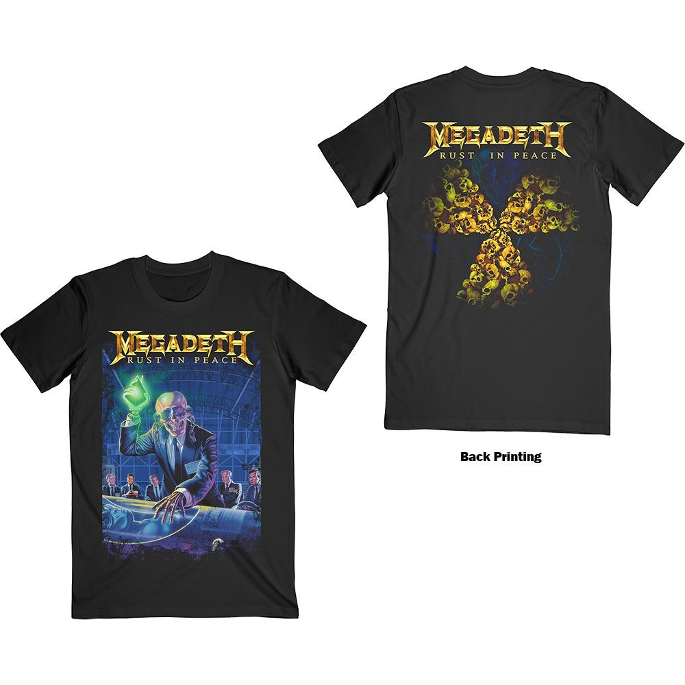 Megadeth - Rust In Peace 30th Anniversary Black Shirt