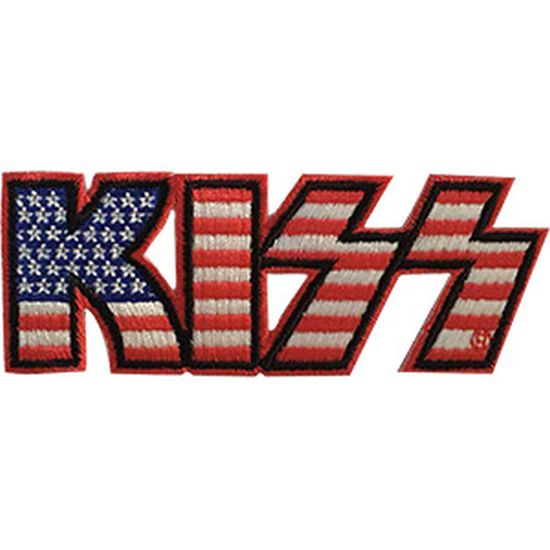 Kiss - Logo American Flag Sew-On Patch