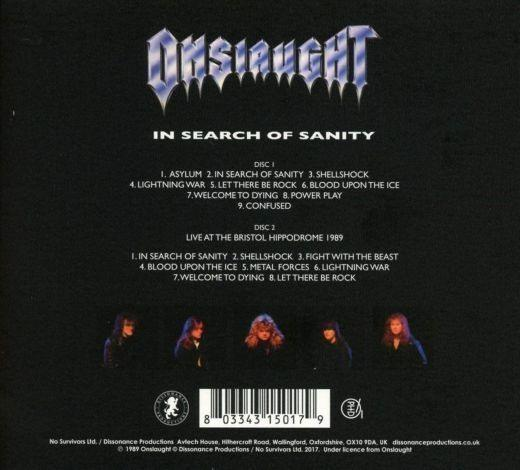 Onslaught - In Search Of Sanity (2CD 2017 reissue - bonus live CD) - CD - New