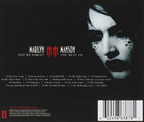 Manson, Marilyn - Lest We Forget - The Best Of Marilyn Manson - CD - New
