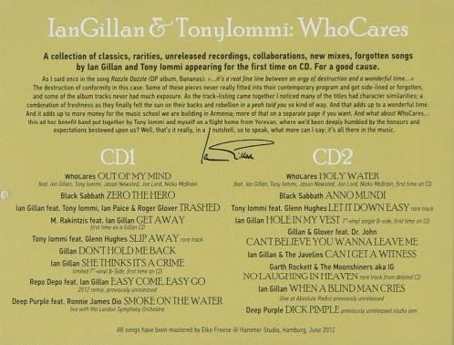 Gillan, Ian And Tony Iommi (Who Cares) - Who Cares (2CD) - CD - New