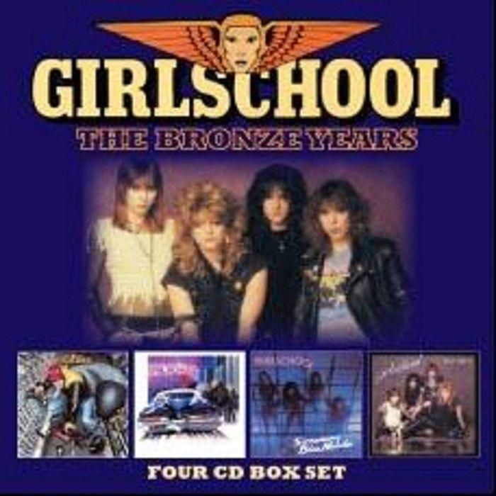 Girlschool - Bronze Years, The (Demolition/Hit And Run/Screaming Blue Murder/Play Dirty LP Replicas) (4CD box) - CD - New