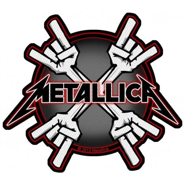 Metallica - Metal Horns Sew-On Patch