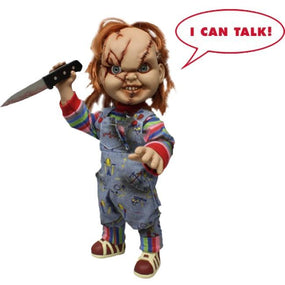 Childs Play - 15 Inch Chucky Doll (Battle Damaged With Sound)
